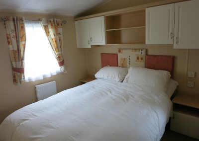 Hire caravan double bed