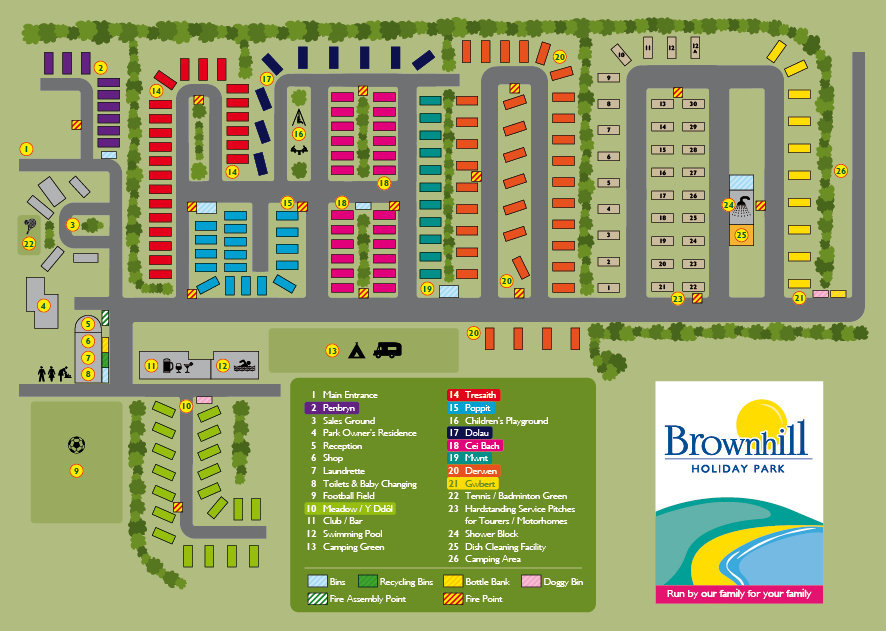 Brownhill Holiday Park Plan